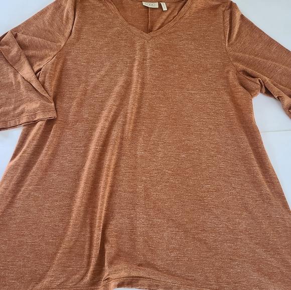 Logo by Lori Goldstein vneck blouse shirt top xl
